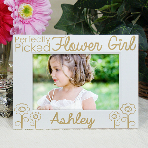 Engraved Flower Girl Picture Frame