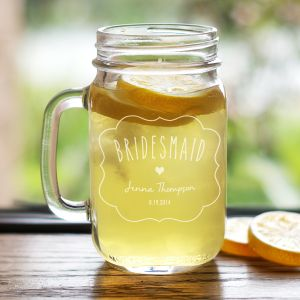 Engraved Bridal Party Mason Jar L766071