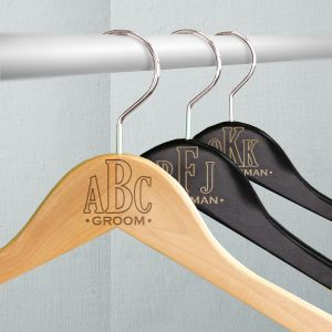 Monogram Wedding Hangers