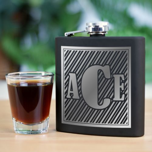 Monogram Steel Flask L773472
