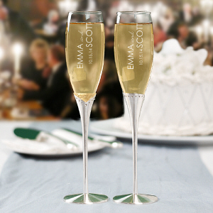 Wedding Engraved Toasting Flutes L787497