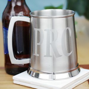 Engraved Silver Tankard