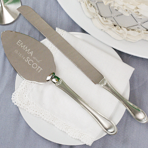 Personalized Cake and Knife Serving Set M787426
