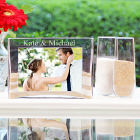 Engraved Sand Ceremony Photo Vase Unity Set