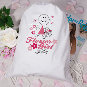 Personalized Flower Girl Sports Bag