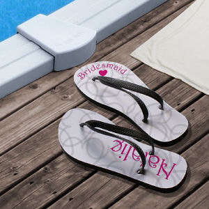 Personalized Wedding Party Flip Flops