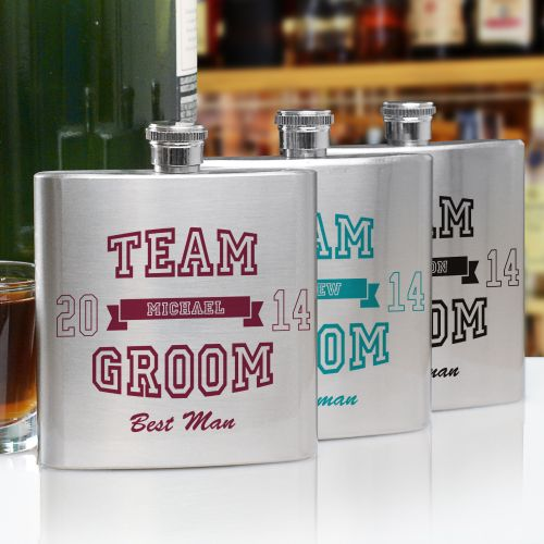 Personalized Team Groom Flask | Personalized Groomsmen Flasks