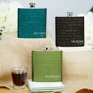 Personalized Wedding Party Flask | Personalized Groomsmen Gifts