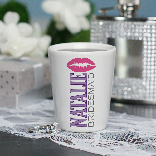 Personalized Bridal Party Shot Glass | Personalized Wedding Favors