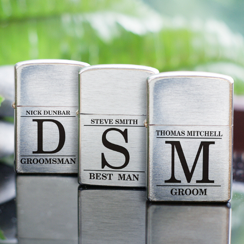 Personalized Groomsmen Lighter | Unique Groomsmen Gifts
