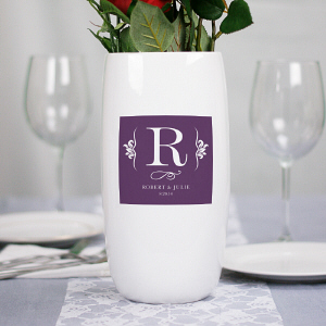 Personalized Ceramic Centerpiece Vase