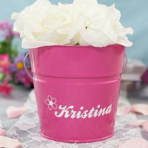 Personalized Flower Girl Bucket