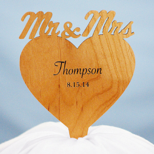 Engraved Cake Topper