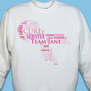 Awareness Ribbon Word-Art Sweatshirt