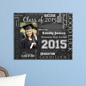 Graduation Photo Word-Art Canvas