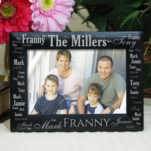 Family Pride Word-Art Black Picture Frame