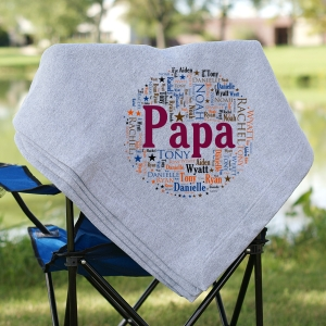 Family Circle Word Art Fleece Blanket