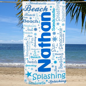 Word-Art Beach Towel