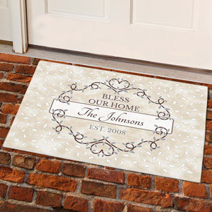 Personalized Bless Our Home Doormat  831100207X
