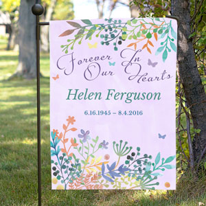 Personalized Memorial Garden Flag | Memorial Flags