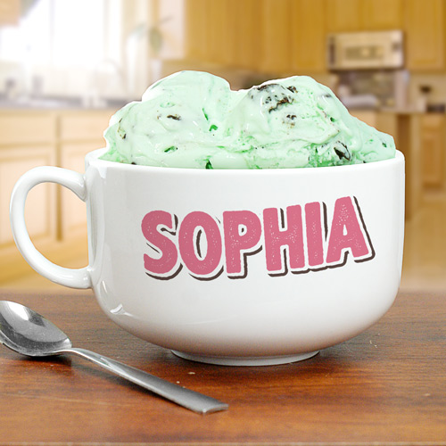 Personalized Kids Ice Cream Bowl  U1015523