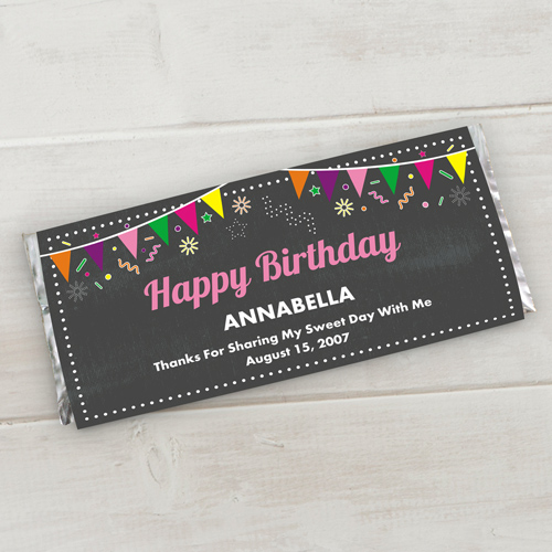 Personalized Chalkboard Birthday Candy Wrappers 11052315X