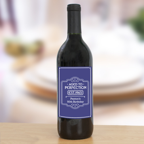 Personalized Aged to Perfection Wine Bottle Labels 11052611X