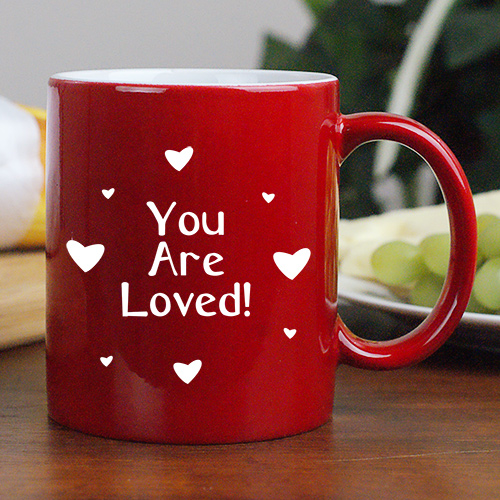 You Are Loved Two-Sided Personalized Two-Toned Coffee Mug