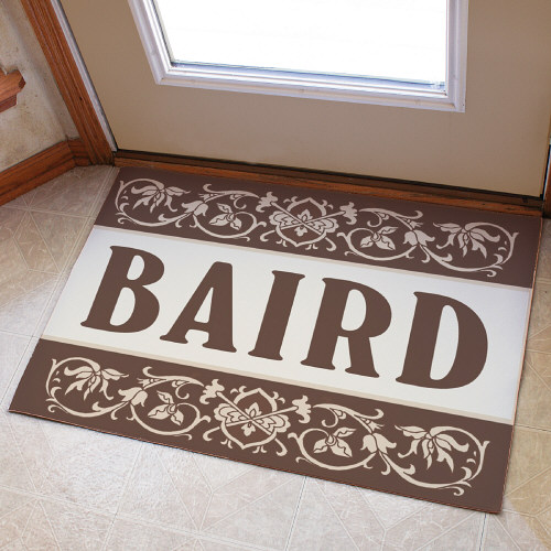 Our Family Welcome Doormat | Monogram Doormat