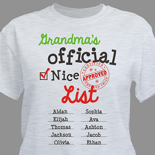 Personalized Official Nice List Shirt 310818X