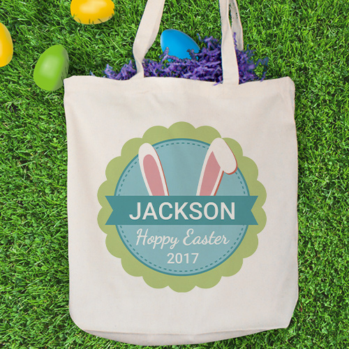 Bunny Ears Personalized Tote Bag 8100032