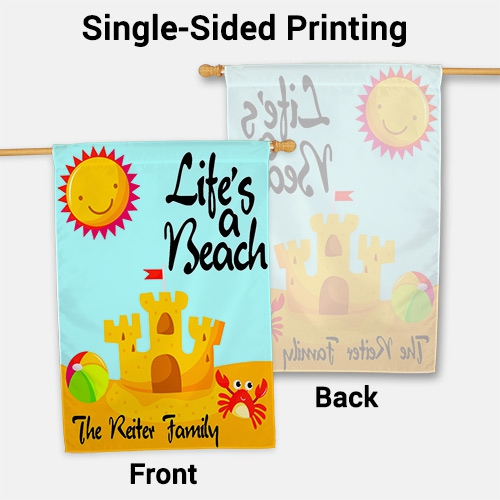 Personalized Life's A Beach House Flag 83028312L