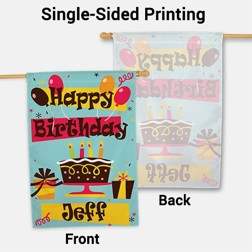 Personalized Happy Birthday House Flag 83036742L