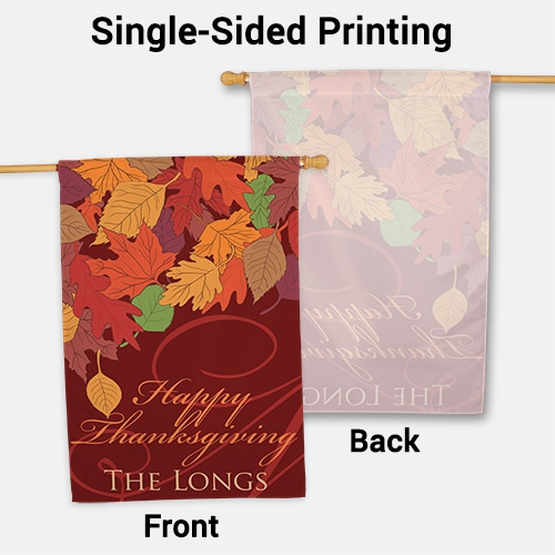 Personalized Fall Leaves House Flag 83060372L