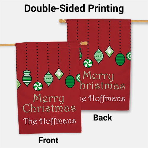 Personalized Holiday Ornaments House Flag 83060382L