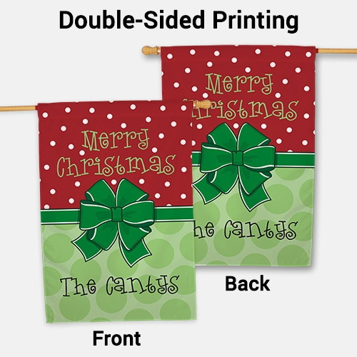 Personalized Merry Christmas House Flag 83069452L