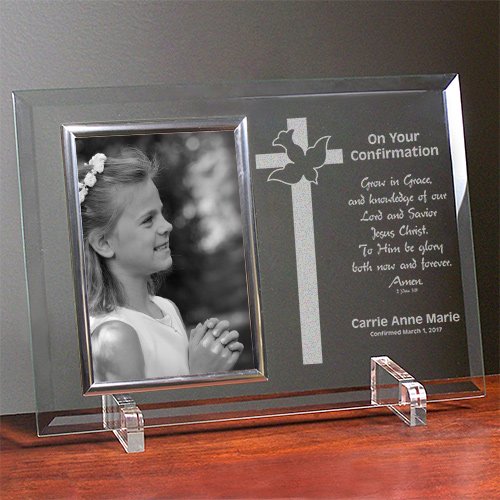 My Confirmation Beveled Glass Picture Frame - Personalized