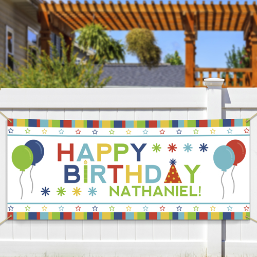 Personalized Happy Birthday Banner 911049414
