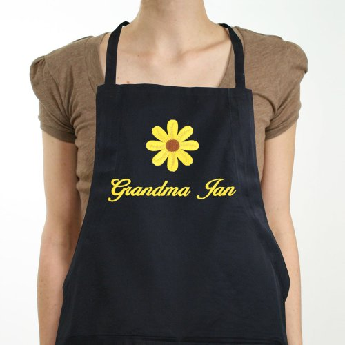 Embroidered Daisy Kitchen Apron 838607X