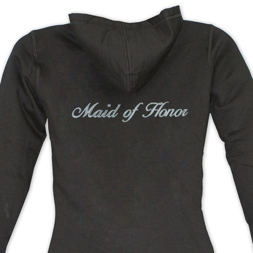 Embroidered Bridal Party Ladies Hoodie E7687242X