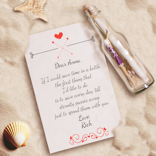 Personalized Endless Love Message in a Bottle 2100622