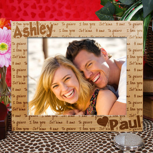 Personalized I Love You Picture Frame
