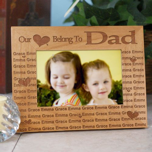 Our Hearts Belong To... Personalized Wooden Picture Frame