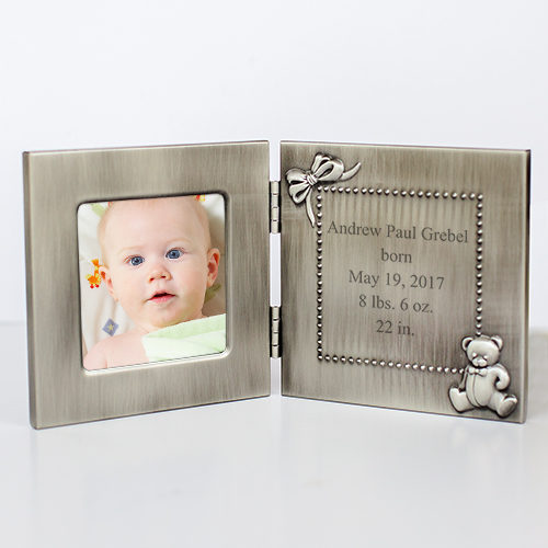 New Baby Silver Photo Frame | Baby Frames