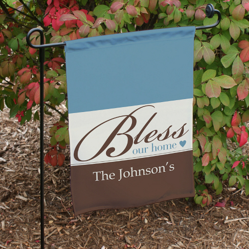 Personalized Bless Our Home Garden Flag 83075432