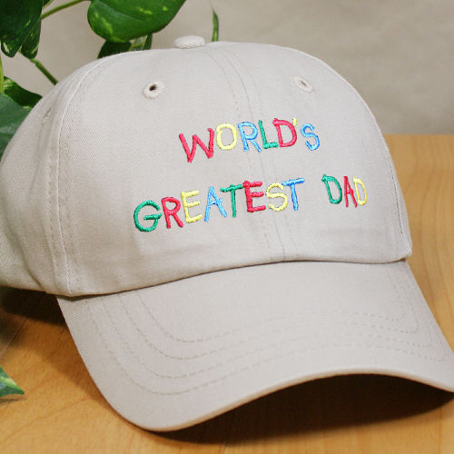 Embroidered World's Greatest Dad Hat 842656X