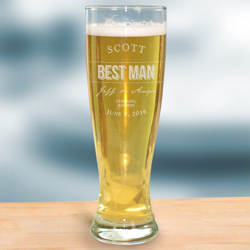 Engraved Groomsmen Pilsner Glass L760841
