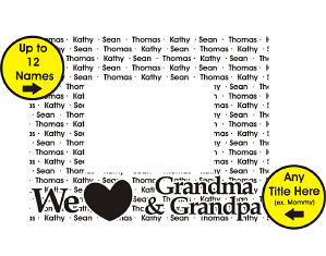 Personalized We Love Family Picture Frame