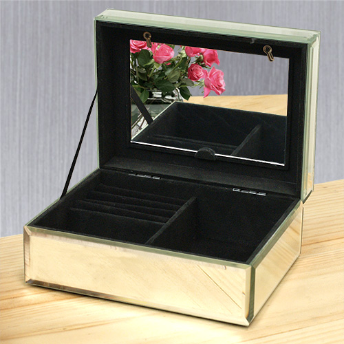 Engraved Photo Glass Jewelry Box L10167128