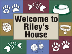 Kitty's House Personalized Pet Doormat